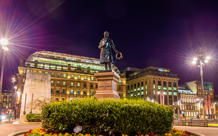 oswald: Statue of James Oswald on George Square in Glasgow, Scotland