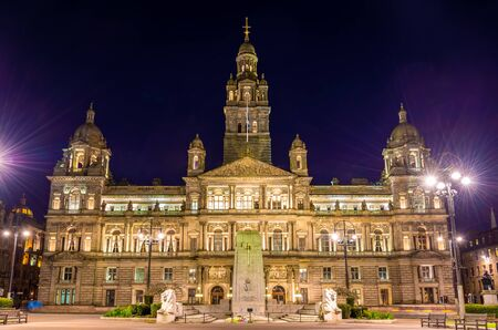 kamers: Glasgow City Chambers and Cenotaph War Memorial - Scotland