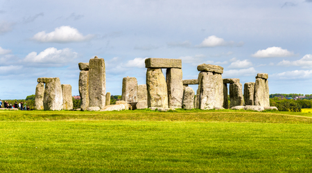large formation: Stonehenge, a prehistoric monument in Wiltshire, England Stock Photo