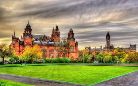 art gallery: Kelvingrove Museum and Glasgow University - Scotland Editorial