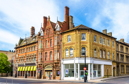 uk: Houses in the city centre of Southampton, England