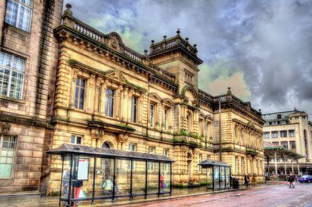 Buildings in the city centre of Preston, England