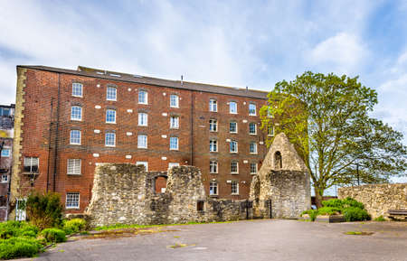 hampshire: Ancient ruins in Southampton - Hampshire, England Stock Photo