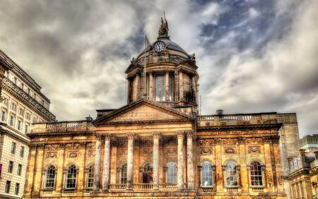 liverpool: Town Hall of Liverpool - England, UK Stock Photo