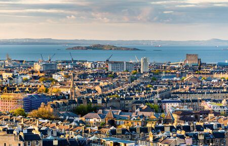 forth: View of the Firth of Forth from Edinburgh - Scotland Editorial