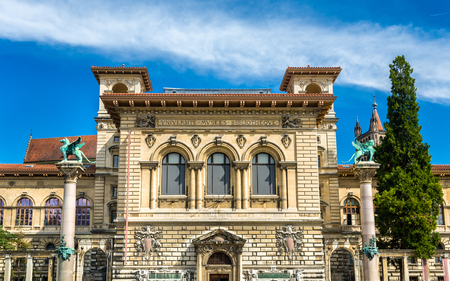 palais: The Palais de Rumine in Lausanne - Switzerland Editorial