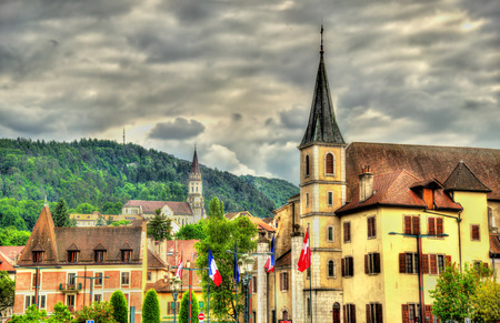 visitation: Church of St Francois de Sales and Basilica of the Visitation in Annecy - France Stock Photo
