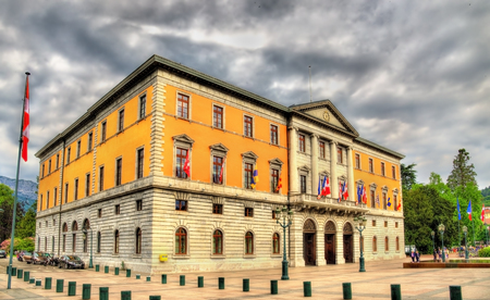 ville: City hall (Hotel de ville) of Annecy - France