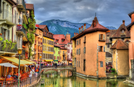 western european: View of the old town of Annecy - France