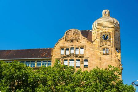friedrich: Kurfurst Friedrich school building in Mannheim - Germany