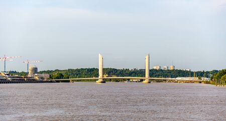 jacques: Jacques Chaban-Delmas bridge in Bordeaux - France Stock Photo