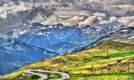 pas: View of the Pyrenees near El Pas de la Casa - Andorra