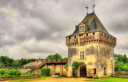 chateau: Chateau de la Roche Courbon in Charente-Maritime department of France Editorial