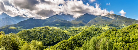 roussillon: View of the Catalan Pyrenees, a natural park in France