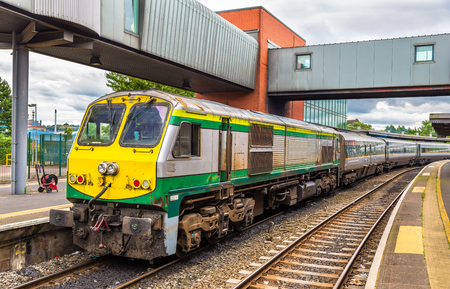 intercity: Intercity train at Belfast Central railway station - Northern Ireland Editorial
