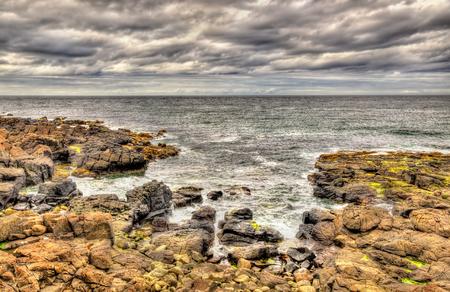 seashores: Rocky seashore in Portstewart - Northern Ireland