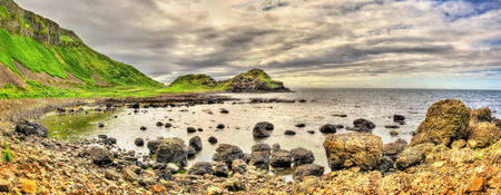 giants: View of the Giants Causeway in Northern Ireland