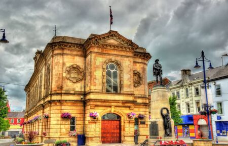 old town guildhall: View of Coleraine town hall - Northern Ireland
