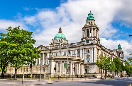 ベルファスト市役所 - 北アイルランド, イギリス 写真素材