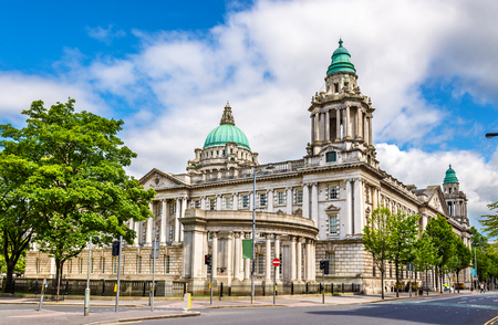 the old town hall: Belfast City Hall - Northern Ireland, United Kingdom Stock Photo
