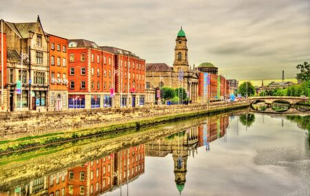 liffey: View of Dublin with the river Liffey - Ireland