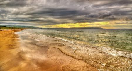 strand: View of Portstewart Strand - Northern Ireland Stock Photo
