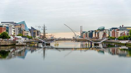 samuel: View of Samuel Beckett Bridge in Dublin, Ireland Stock Photo