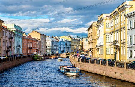 saint: The Moyka River embankment in Saint Petersburg - Russia