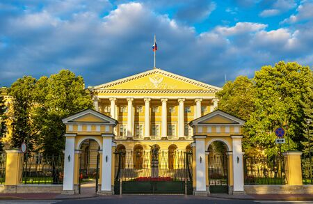 edifice: Smolny Institute, a Palladian edifice in St Petersburg, Russia Editorial