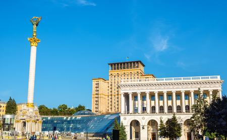maidan: Maidan Nezalezhnosti (Independence Square) in Kyiv, Ukraine Stock Photo