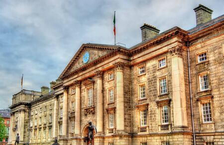 college: Entrance of Trinity College in Dublin - Ireland