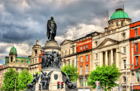 Monument of Daniel O'Connell in Dublin - Ireland 報道画像