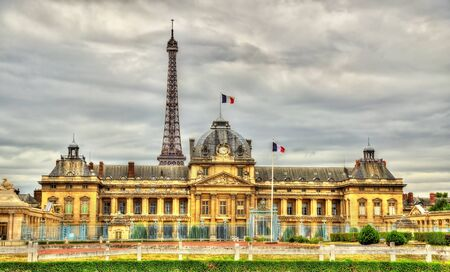 france: The Ecole Militaire (Military School) in Paris - France