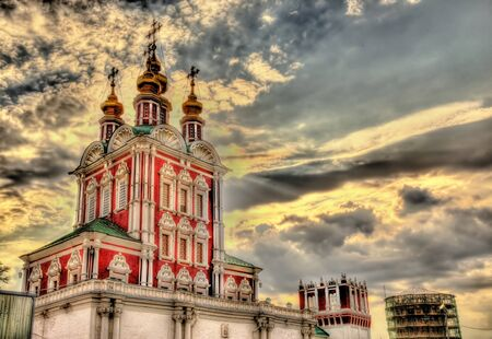 transfiguration: Gateway Church of Transfiguration in Novodevichy Convent - Moscow Stock Photo