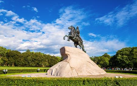 uomo a cavallo: Il cavaliere di bronzo, la statua di Pietro il Grande a San Pietroburgo, Russia