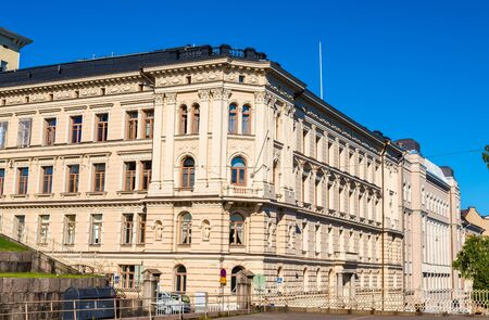 old buildings: Buildings in the city centre of Helsinki - Finland Stock Photo