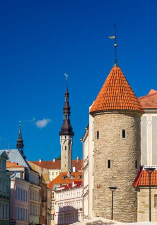 View of medieval Tallinn Old Town - Estonia Фото со стока
