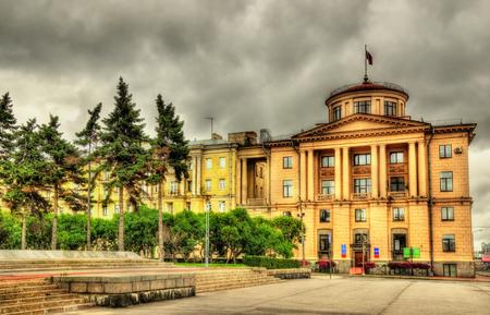 ulyanov: Administration of Kalininsky district, Lenin square, Saint Petersburg Editorial