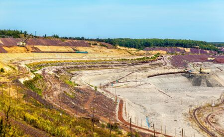 dragline: Iron ore mining in Mikhailovsky field within Kursk Magnetic Anomaly, Russia