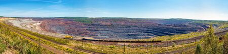 Mikhailovsky iron mine within Kursk Magnetic Anomaly, Russia Stock Photo