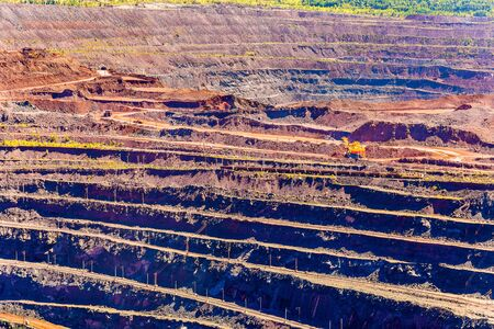 magnetic stones: Iron ore mining in Mikhailovsky field within Kursk Magnetic Anomaly, Russia