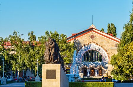 Monument to Stalin victims and the Railway Station in Chisinau - Moldova Editorial