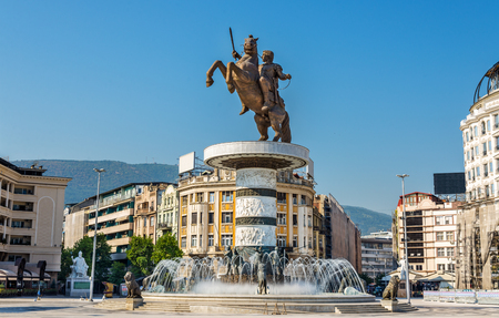 alexander the great: Alexander the Great Monument in Skopje - Macedonia