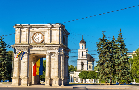 De Triomfboog in Chisinau - Moldavië