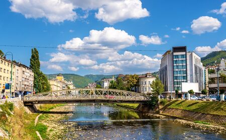 saraybosna: Ajfelov bridge in Sarajevo - Bosnia and Herzegovina