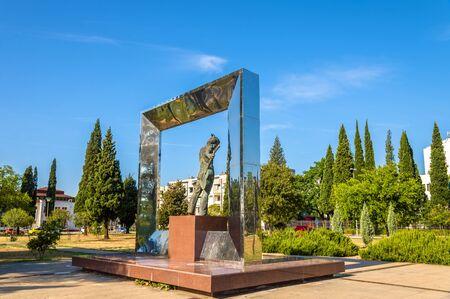 vladimir: Vladimir Vysotsky Monument in Podgorica - Montenegro Editorial