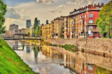 bosnia and hercegovina: View of the historic centre of Sarajevo - Bosnia and Herzegovina