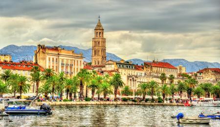 embankment: The Riva Embankment of Split - Croatia
