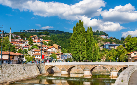 saraybosna: View of the historic centre of Sarajevo - Bosnia and Herzegovina