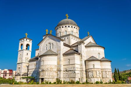 resurrection: Cathedral of the Resurrection of Christ in Podgorica - Montenegro